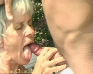 fucking granny in the backyard