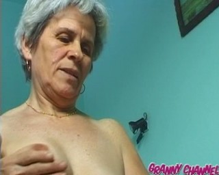 granny playing with her pussy